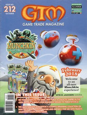 Game Trade Magazine #212 All New Munchkin GAIA PROJECT Starfinder RPG 2017