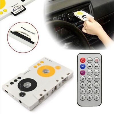 New Car Tape Audio Cassette SD MMC MP3 Player Adapter Kit with Remote Control EU