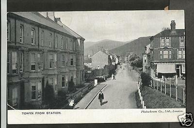 FZQ Early Postcard, Towyn from the Station, Merioneth - fault