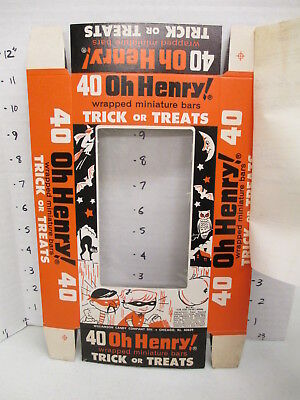 Williamson Candy bar company 1960s BOX store display OH HENRY halloween SAMPLE