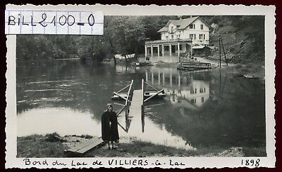 Villers-le-Lac ( Doubs )  BORDS DU LAC .  photo ancienne .1948