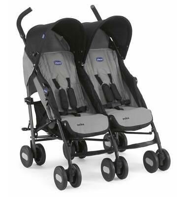 Chicco Echo Twin Stroller Double Baby Pushchair (Coal Grey) SALE! WAS£150