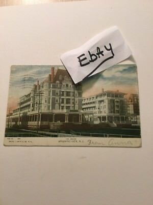 1900's Old Postcard The Dennis Hotel Atlantic City New Jersey Historical