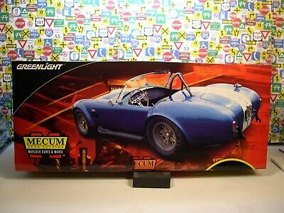 Blue 1966 Ford Shelby Cobra Greenlight 1:18 Scale Diecast Metal Model Car