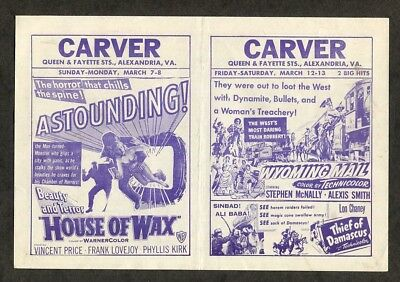1953 Vintage Movie Pamphlet House of Wax 3-D Horror Film