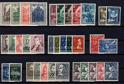 P28647/ Pays Bas / Netherlands – 1939 / 1950 Lot Neuf / Mint Mh 125 €