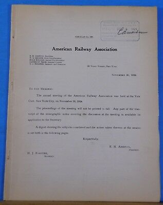 American Railway Association Annual Meeting Proceedings 1924 Soft Cover