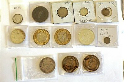 Dealer Junk Drawer Lot Of 13 Misc Coins See Below For Descriptions. Fun Stuff!