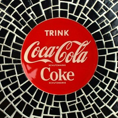 COCA COLA Alter Wandteller Essen datiert 1957 MAKELLOS Mosaik Ornamin Limo  COKE