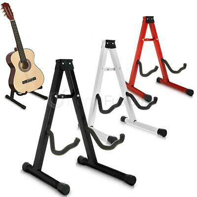 Livivo Folding Guitar Stand Foldable A-Frame Music Floor Electric Acoustic Bass