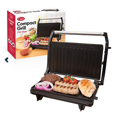 Quest Compact Grill Panini Toasted Sandwich Press Stainless Steel 700W