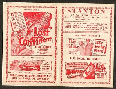 1951 Vintage Sci-fi Movie Pamphlet - Lost Continent starring Cesar Romero