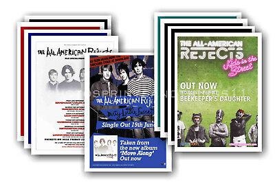 ALL AMERICAN REJECTS - 10 promotional posters  collectable postcard set # 1