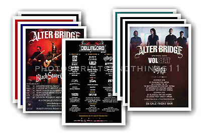 ALTER BRIDGE - 10 promotional posters  collectable postcard set # 1