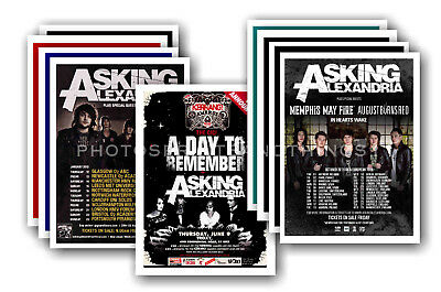ASKING ALEXANDRIA - 10 promotional posters  collectable postcard set # 1