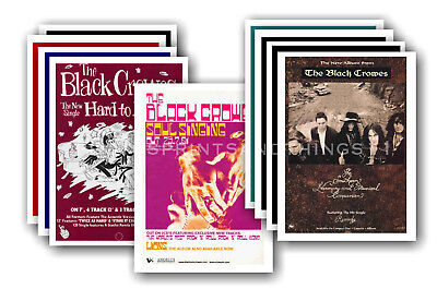 BLACK CROWES - 10 promotional posters  collectable postcard set # 1