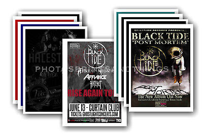 BLACK TIDE - 10 promotional posters  collectable postcard set # 1