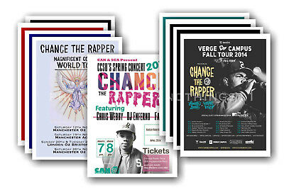 CHANCE THE RAPPER - 10 promotional posters  collectable postcard set # 1