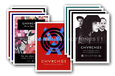CHVRCHES - 10 promotional posters  collectable postcard set # 1