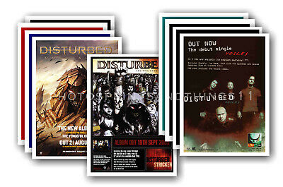 DISTURBED - 10 promotional posters  collectable postcard set # 1
