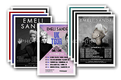 EMELI SANDE - 10 promotional posters  collectable postcard set # 1