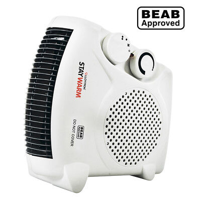 2000w Fan Heater with 2 Heat Settings + Cool Blow Thermostat Electric Heater New
