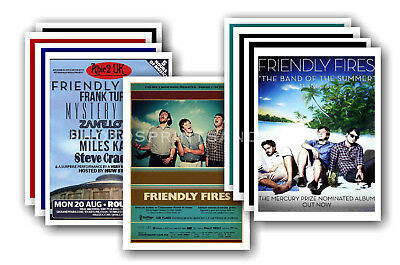 FRIENDLY FIRES - 10 promotional posters  collectable postcard set # 1