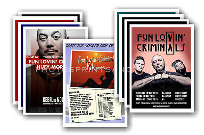 FUN LOVIN CRIMINALS - 10 promotional posters  collectable postcard set # 1