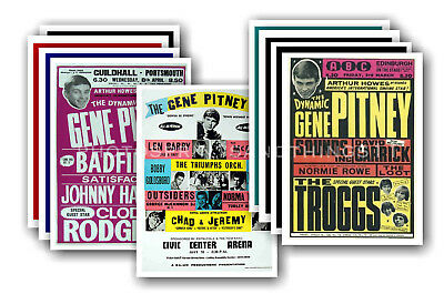 GENE PITNEY - 10 promotional posters  collectable postcard set # 1