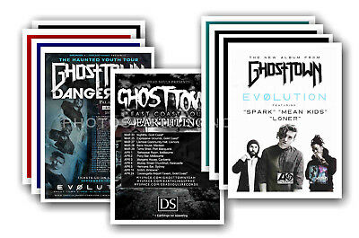 GHOST TOWN - 10 promotional posters  collectable postcard set # 1