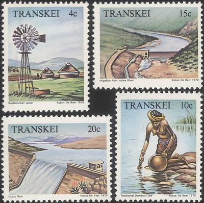 Transkei 1979 Water Resources/Windmill/Rivers/Dams/Reservoir 4v set (b9977d)