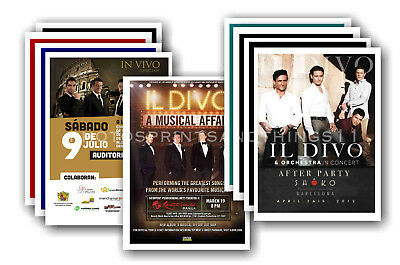 IL DIVO - 10 promotional posters  collectable postcard set # 1