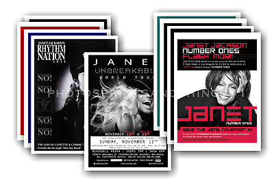 JANET JACKSON - 10 promotional posters  collectable postcard set # 1