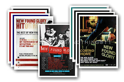 NEW FOUND GLORY - 10 promotional posters  collectable postcard set # 1