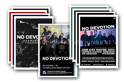 NO DEVOTION - 10 promotional posters  collectable postcard set # 1