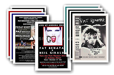 PAT BENATAR - 10 promotional posters  collectable postcard set # 1