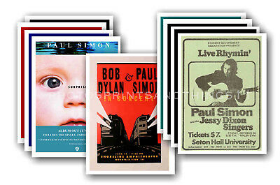PAUL SIMON - 10 promotional posters  collectable postcard set # 1