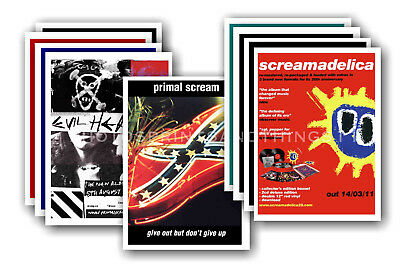 PRIMAL SCREAM - 10 promotional posters  collectable postcard set # 1