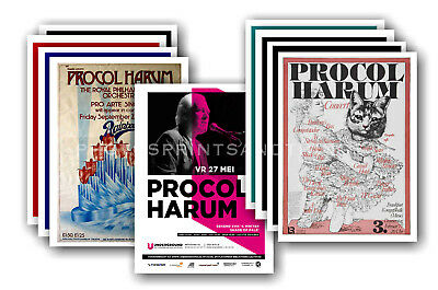PROCUL HARUM - 10 promotional posters  collectable postcard set # 1