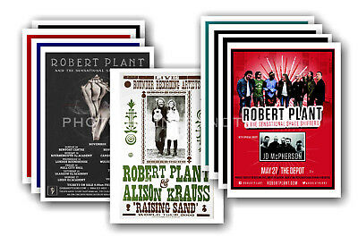 ROBERT PLANT - 10 promotional posters  collectable postcard set # 1