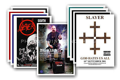 SLAYER - 10 promotional posters  collectable postcard set # 1