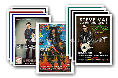 STEVE VAI - 10 promotional posters  collectable postcard set # 1