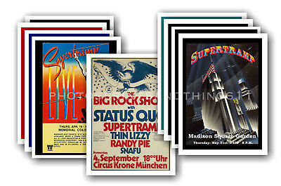 SUPERTRAMP - 10 promotional posters  collectable postcard set # 1