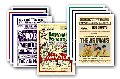 THE ANIMALS - 10 promotional posters  collectable postcard set # 1