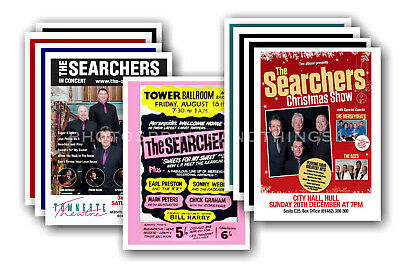 THE SEARCHERS - 10 promotional posters  collectable postcard set # 1
