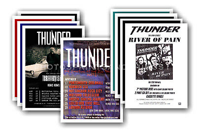 THUNDER - 10 promotional posters  collectable postcard set # 1