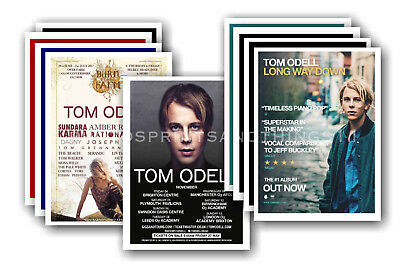 TOM ODELL - 10 promotional posters  collectable postcard set # 1