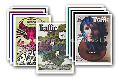 TRAFFIC - 10 promotional posters  collectable postcard set # 1