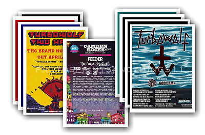 TURBOWOLF - 10 promotional posters  collectable postcard set # 1