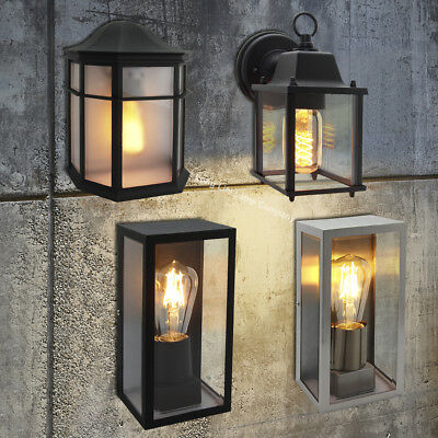 Traditional Vintage Style Outdoor Single Wall Lights Ip44 Garden Lantern